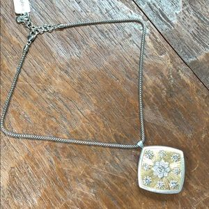 Brighton silver / gold reversible pendant necklace